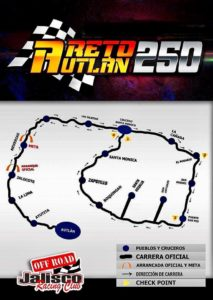 mapa JALISCO AUTLAN OFF ROAD
